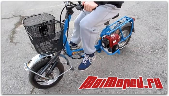 Мопед из детского складного велосипеда