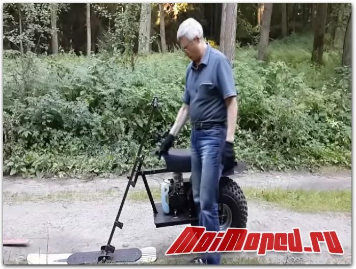 Мотовездеход на двух моторах