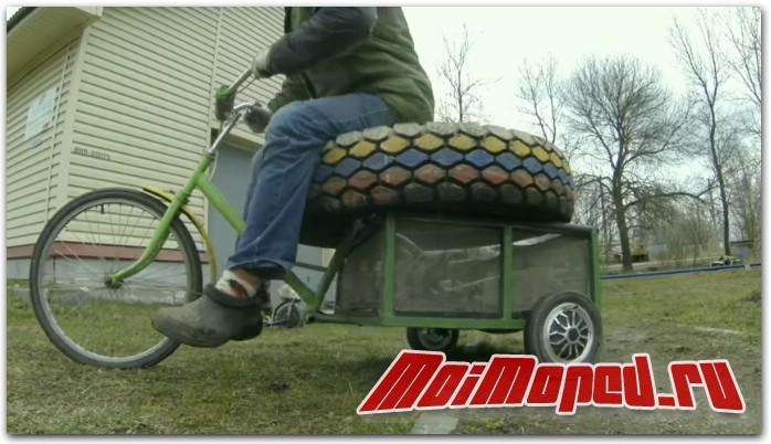 Самодельный грузовой трицикл из гироскутера